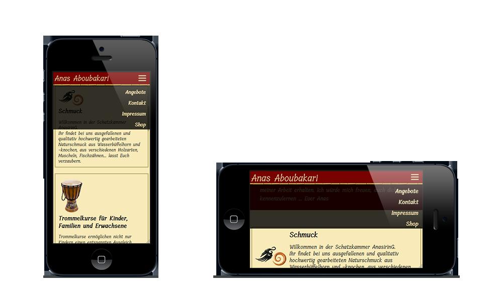 Anas Aboubakari - Webdesign - Smartphone