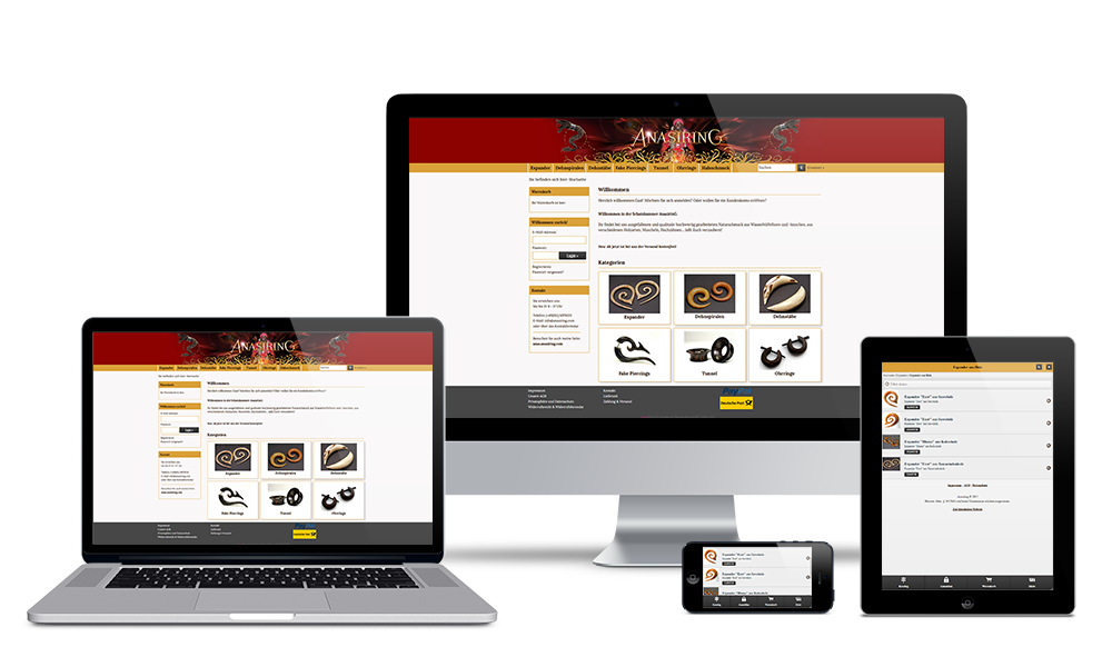 Anasiring - Webdesign - Onlineshop