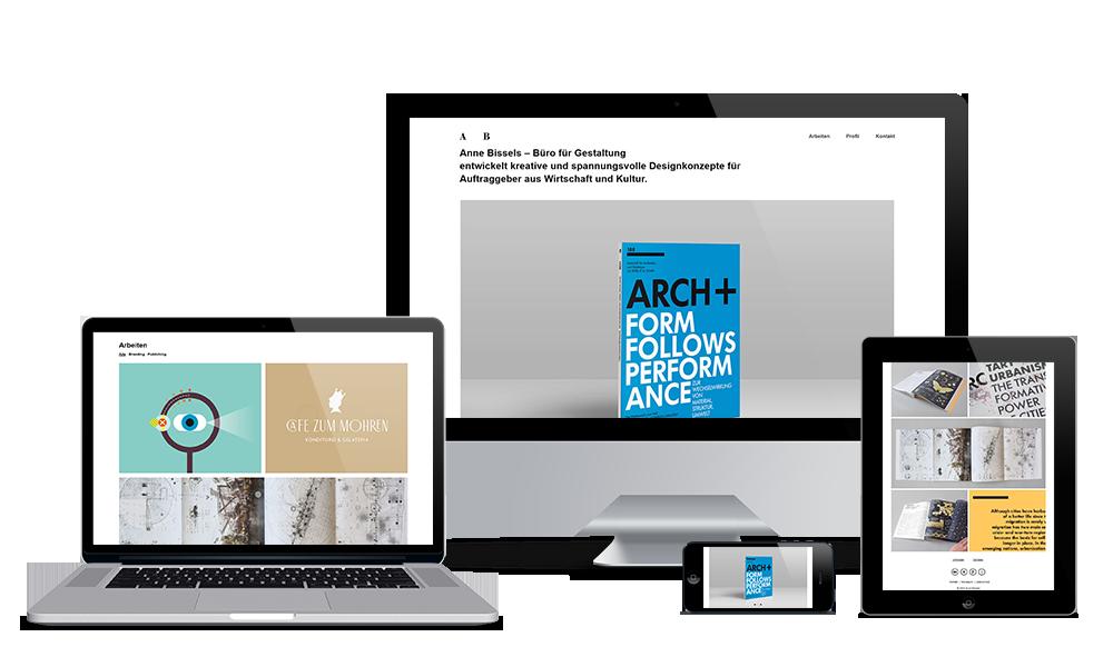 Anne Bissels - Webdesign