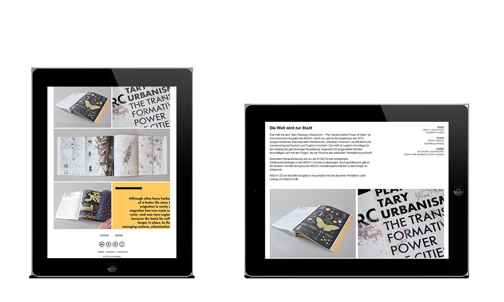 Anne Bissels - Webdesign - Tablet