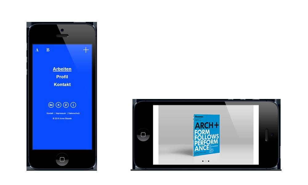 Anne Bissels - Webdesign - Smartphone
