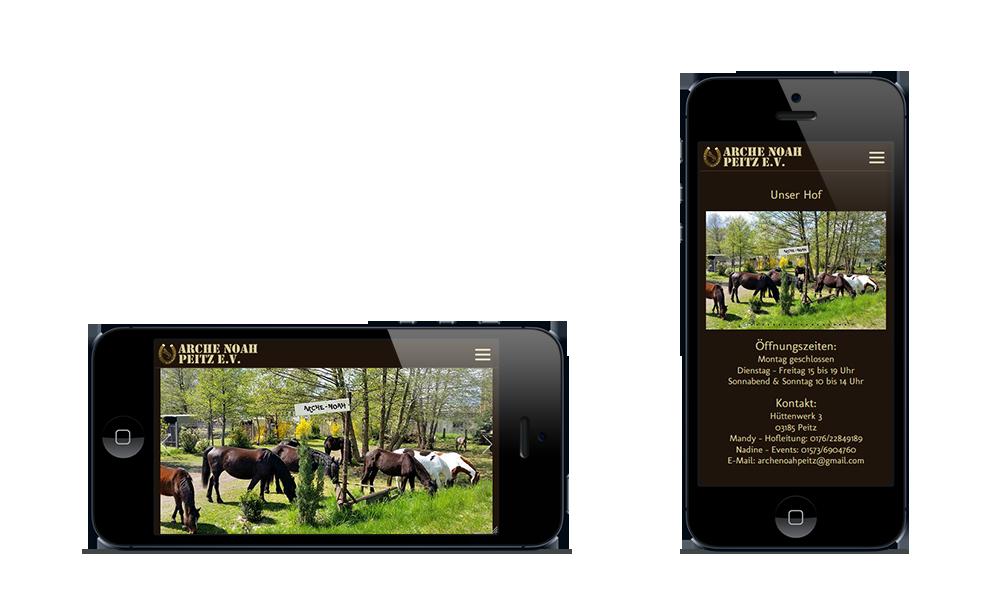 Arche Noah Peitz - Webdesign - Smartphone