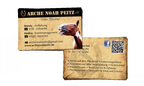 Arche Noah Peitz - Visitenkarten