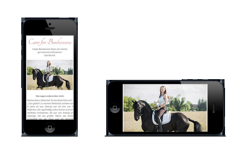 Caro - Webdesign - Smartphone