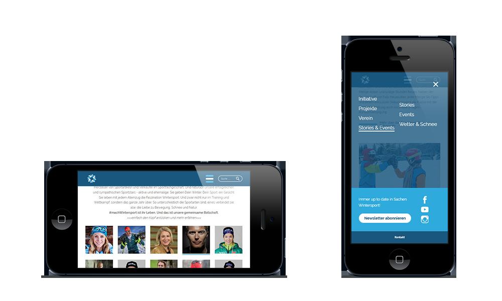 Dein Winter. Dein Sport.- Webdesign - Smartphone