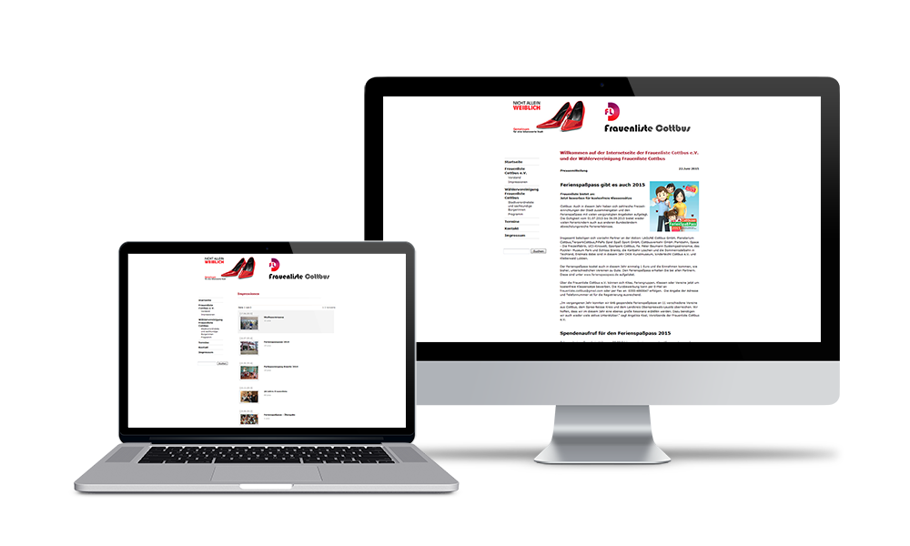 Frauenliste Cottbus - Webdesign