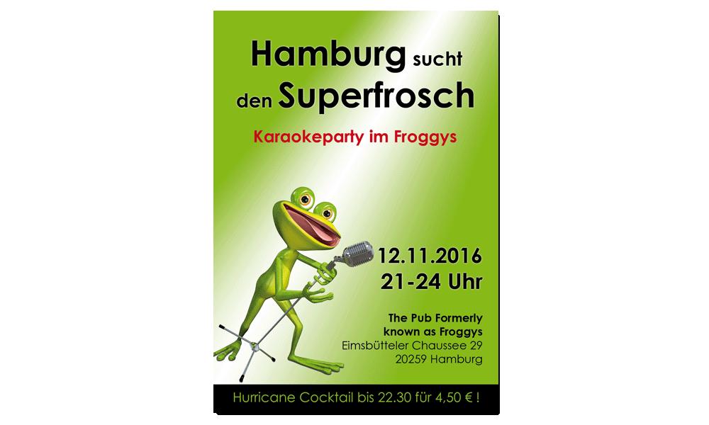 Froggys Karaoke - Plakat