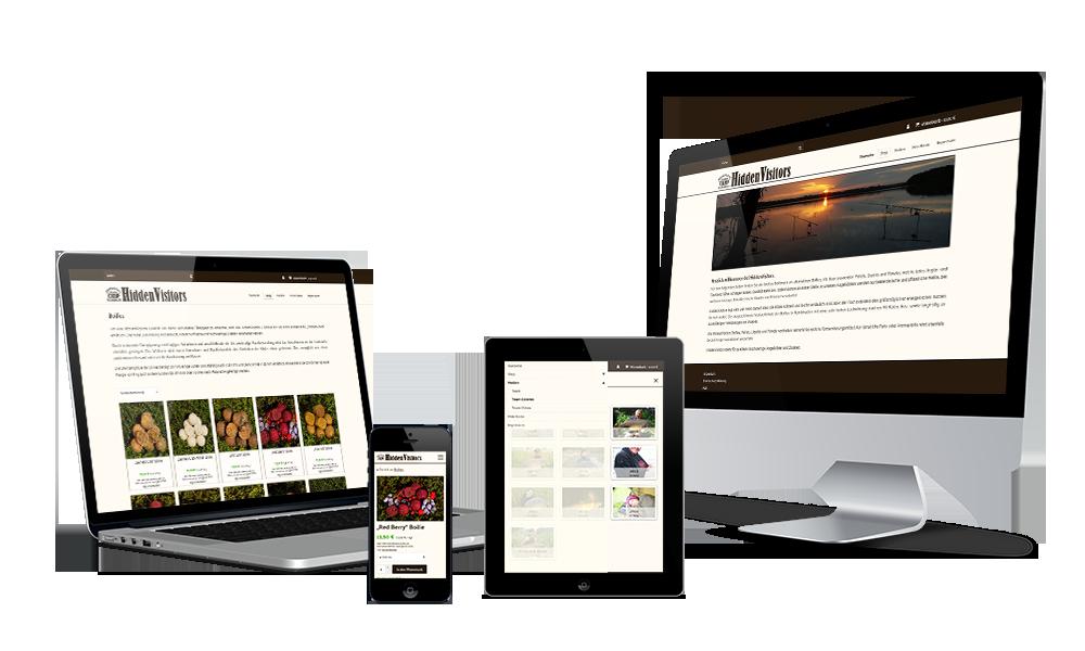 Hiddenvisitors - Webdesign - Onlineshop
