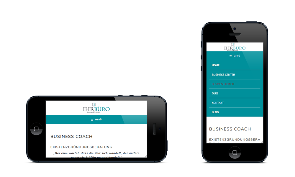 Ihr Büro Business GmbH - Webdesign - Smartphone
