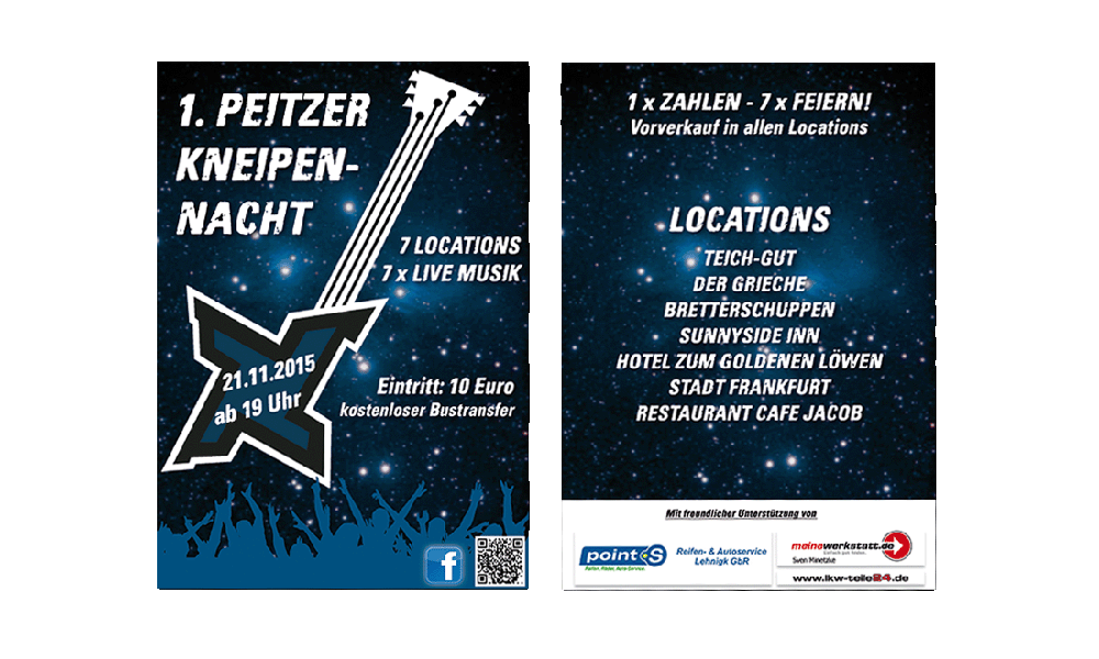 Kneipennacht 2015 - Flyer