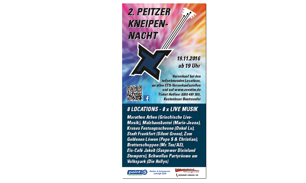 Kneipennacht 2016 - Flyer