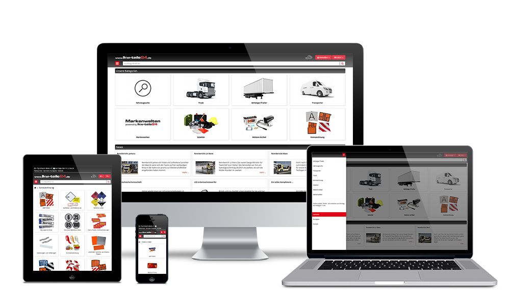 LKW-Teile24 - Webdesign - Onlineshop
