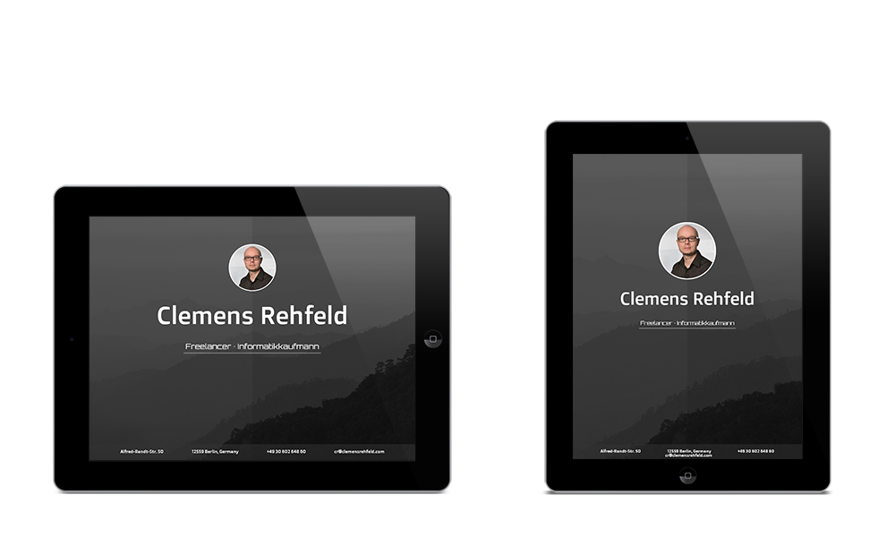 mcr communication - Webdesign - Tablet