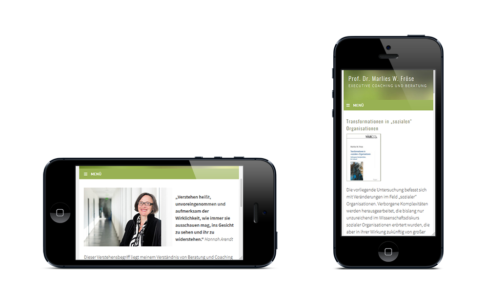 Marlies Fröse - Webdesign - Smartphone