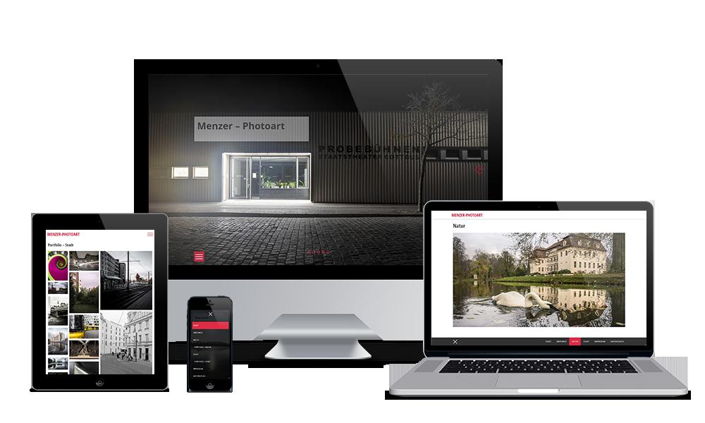 Menzer-Photoart - Webdesign
