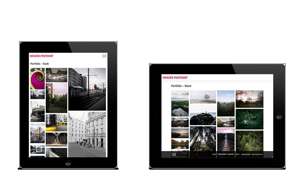 Menzer-Photoart - Webdesign - Tablet