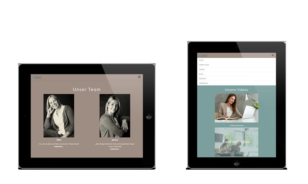 Olee - Webdesign - Tablet