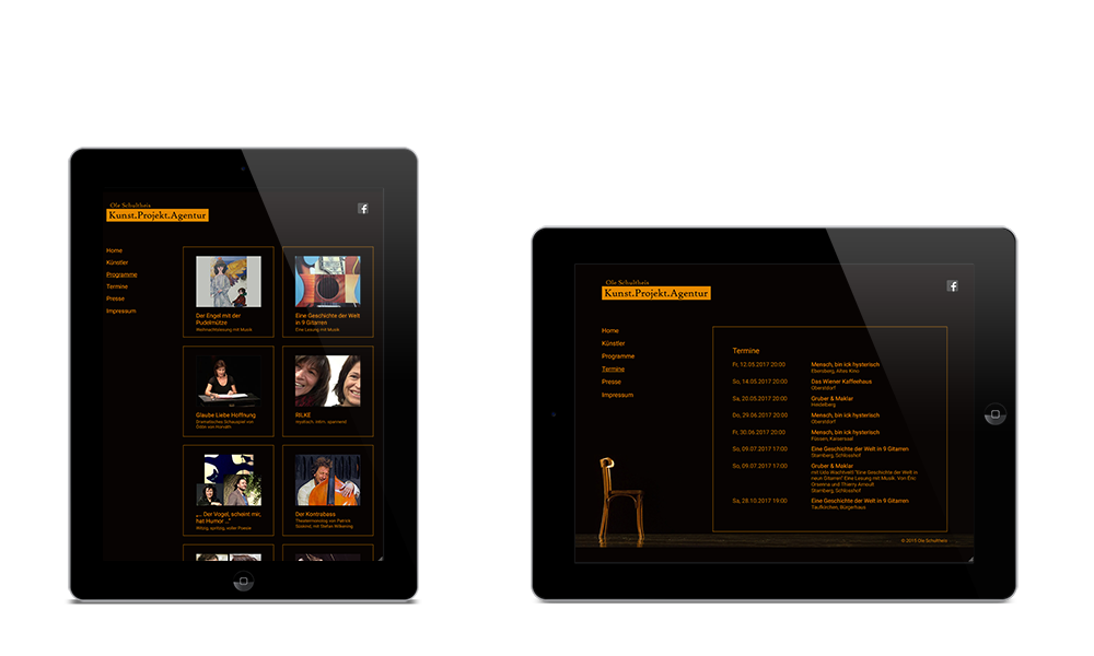 Agentur Ole Schultheis - Webdesign - Tablet