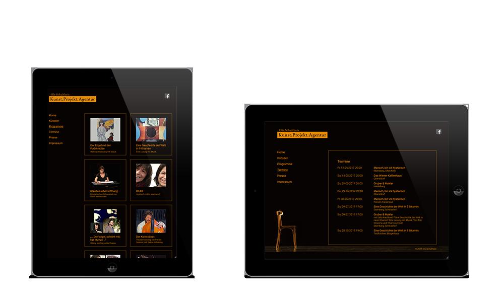Agentur Ole Schultheis - Webdesign - Tablet
