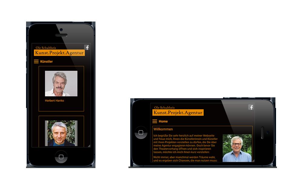 Agentur Ole Schultheis - Webdesign - Smartphone