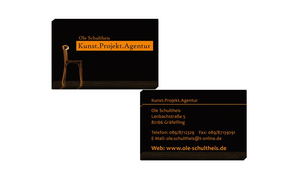 Agentur Ole Schultheis - Visitenkarten