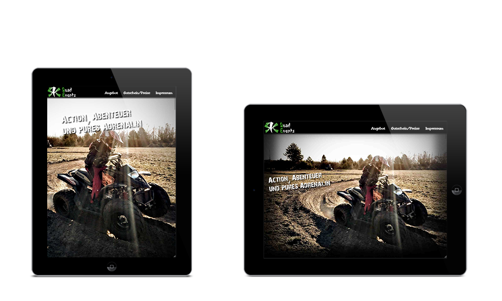 RK QuadEvents - Webdesign - Tablet