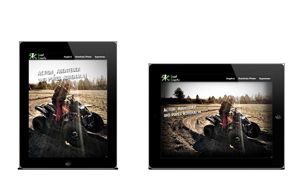 RK QuadEvents - Webdesign - Tablet