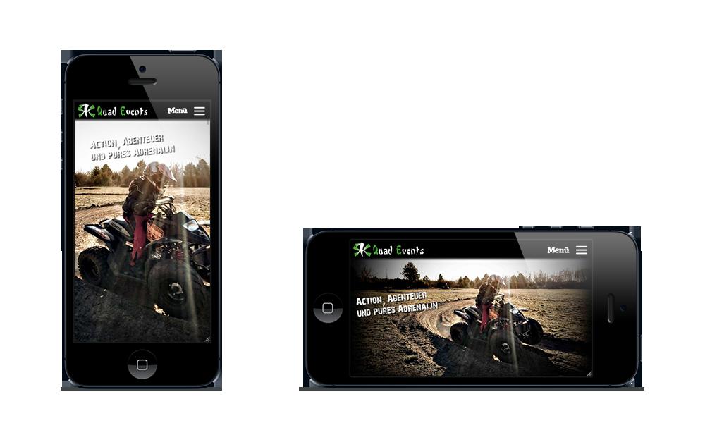 RK QuadEvents - Webdesign - Smartphone