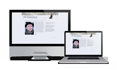 Der Schneesturm - Webdesign