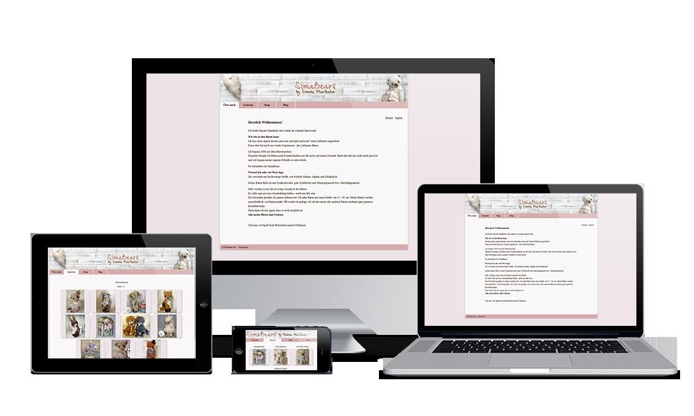 Simabears - Webdesign