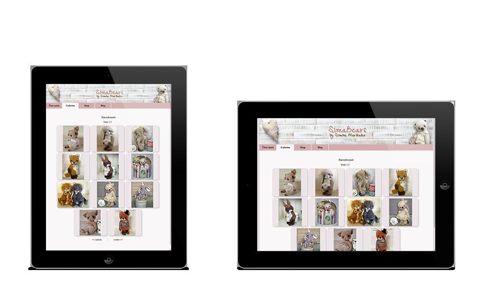 Simabears - Webdesign - Tablet