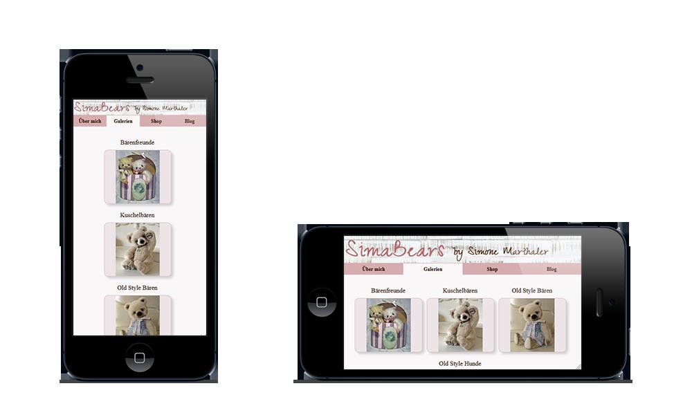 Simabears - Webdesign - Smartphone