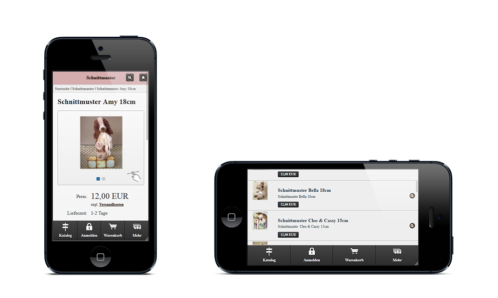 Simabears - Webdesign - Onlineshop - Smartphone