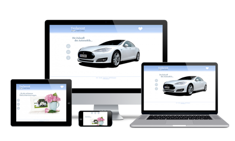 Teslarent - Webdesign