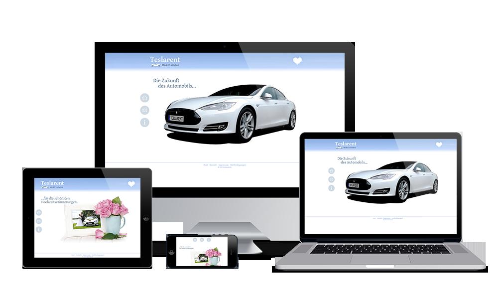 Teslarent - Webdesign