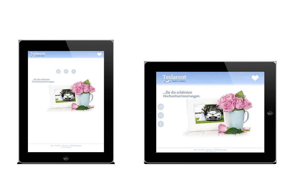 Teslarent - Webdesign - Tablet