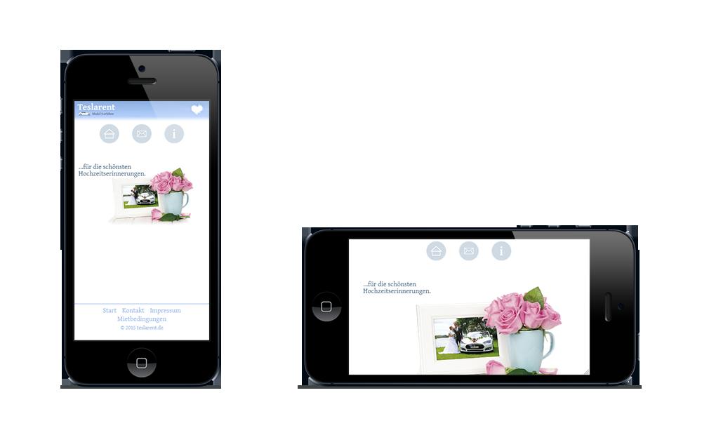 Teslarent - Webdesign - Smartphone