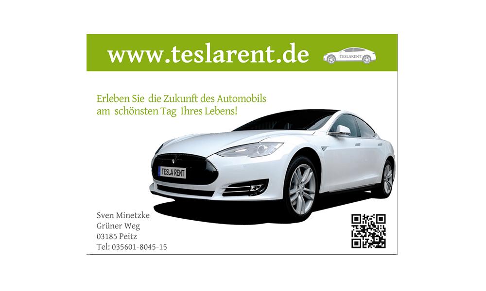 Teslarent - Flyer